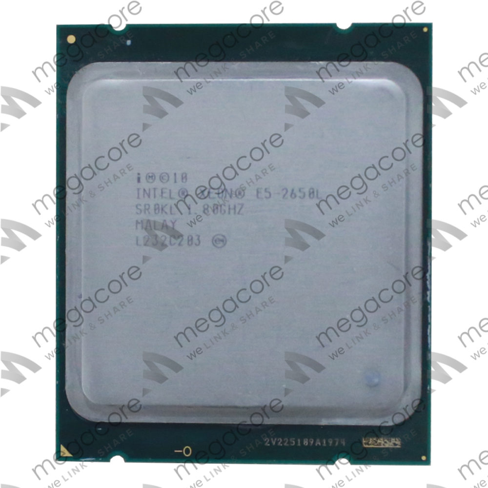 CPU Intel Xeon Processor E5-2650L (1.80 turbo 2.30GHz / 8Cores / 16 Thread)