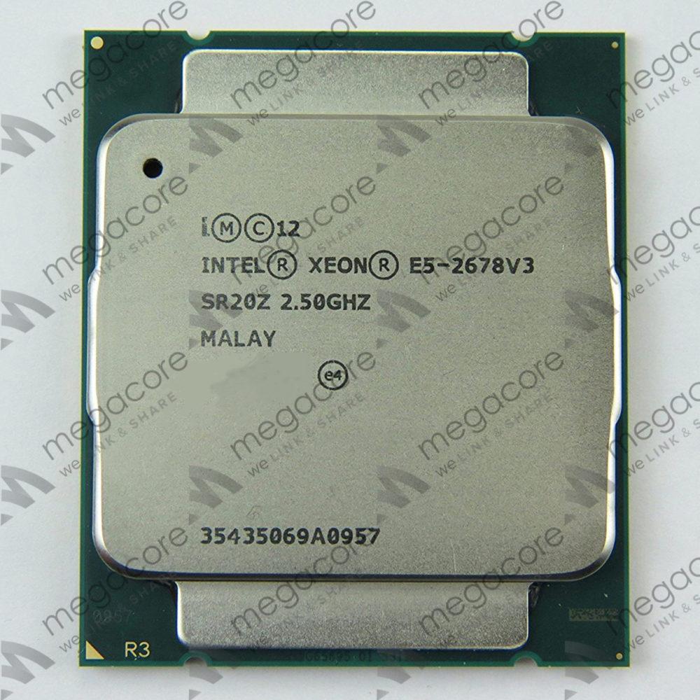 CPU Intel Xeon Processor E5-2678 V3 (2.50 turbo 3.1GHz / 12Cores / 24 Thread)