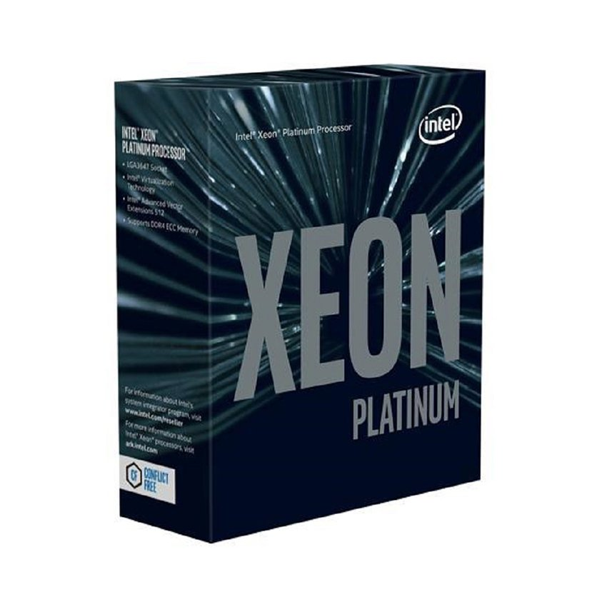 CPU Intel Xeon Platinum 8180 (2.5GHz turbo up to 3.8GHz, 28 nhân, 56 luồng, 38.5MB Cache)