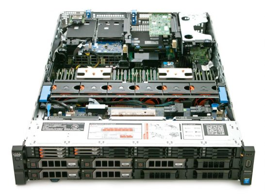 StorageReview Dell PowerEdge R730XD Inside 546x400 - Review máy chủ Dell PowerEdge R730xd