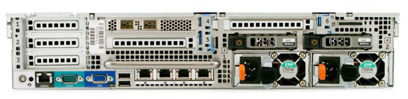 StorageReview Dell PowerEdge R730XD Rear 800x195 - Review máy chủ Dell PowerEdge R730xd