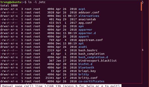 lenh 2 - 1 số câu lệnh cơ bản trong Linux (Ubuntu)