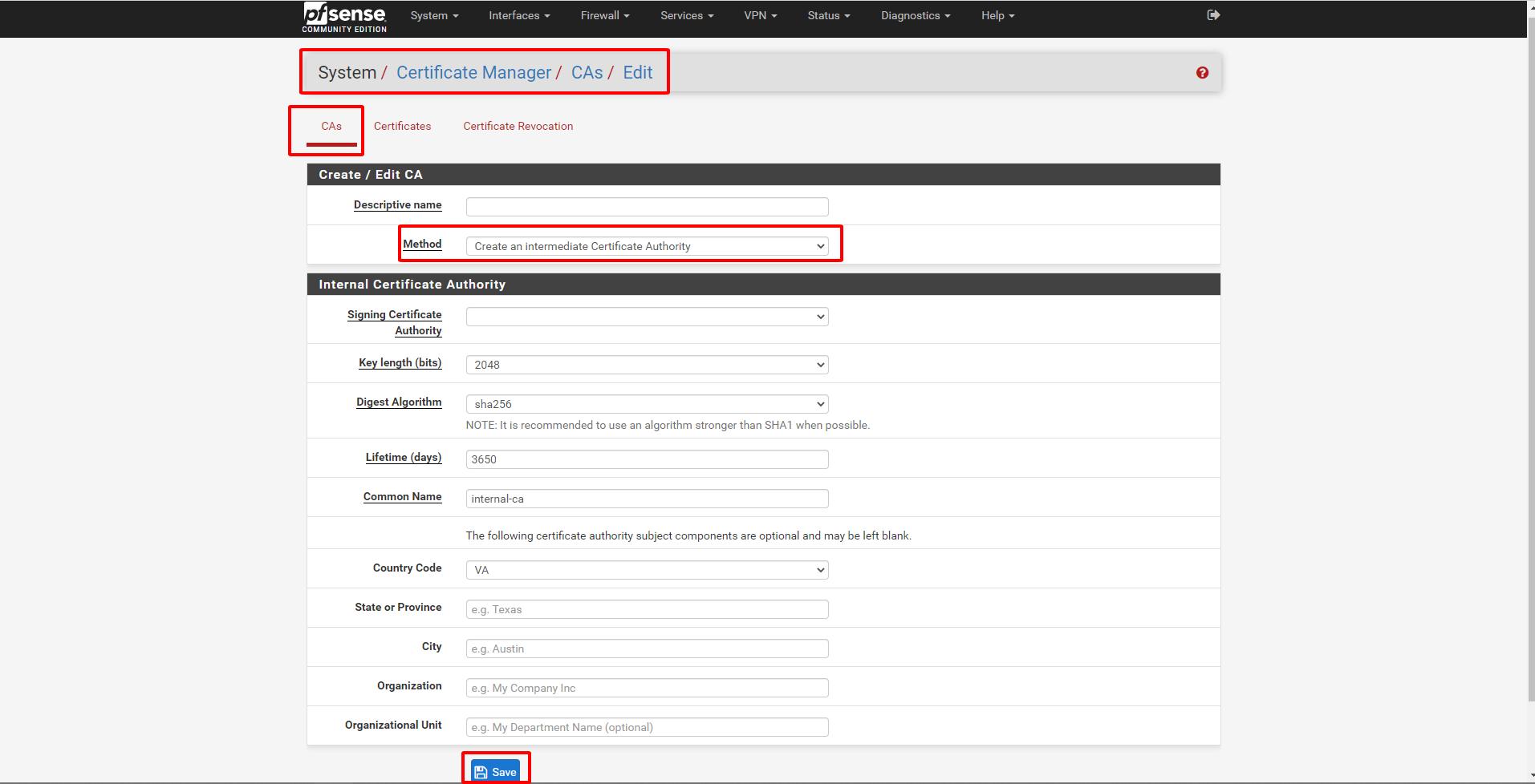 pfsense 10 - Certificate Management (Tìm Hiểu Về PfSense Phần 8)