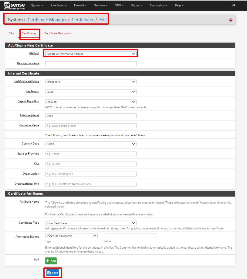 pfsense 16 - Certificate Management- Tiếp (Tìm Hiểu Về PfSense Phần 9)