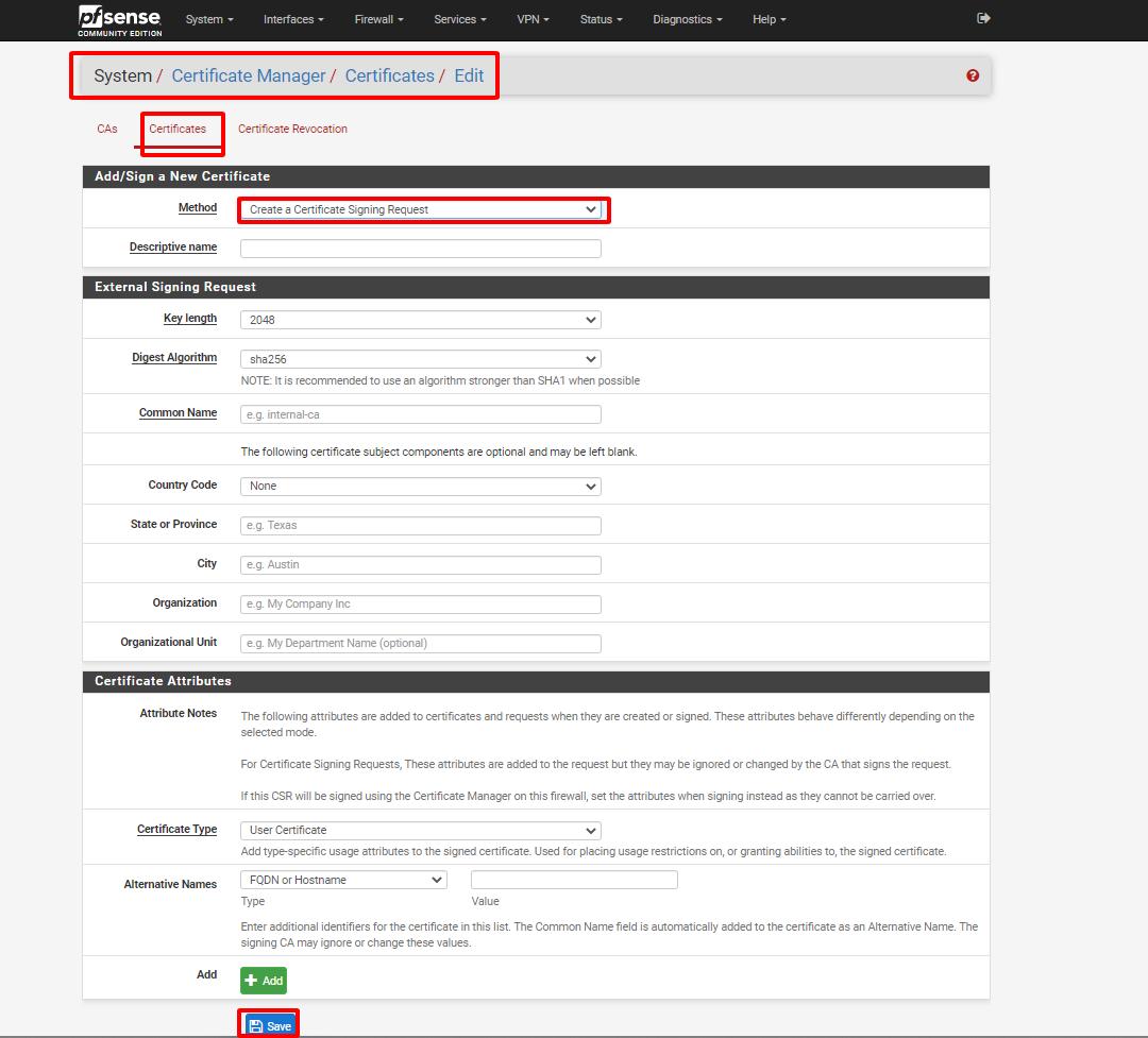 pfsense 17 - Certificate Management- Tiếp (Tìm Hiểu Về PfSense Phần 9)