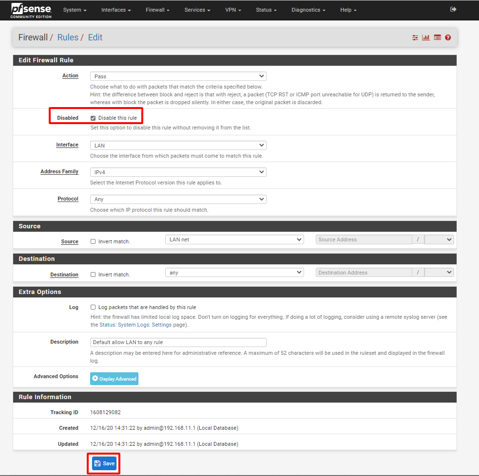pfsense 51 - Firewall trong pfSense- 5 (Tìm Hiểu Về PfSense Phần 16)