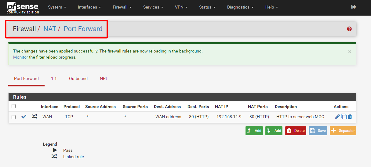 pfsense 94 - Network Address Translation (Tìm Hiểu Về PfSense Phần 20)
