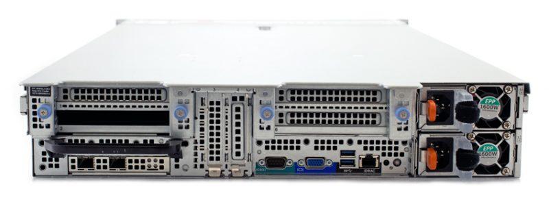 StorageReview DellEMC PowerEdge R840 Rear 800x295 - Giới thiệu máy chủ Dell EMC PowerEdge R840