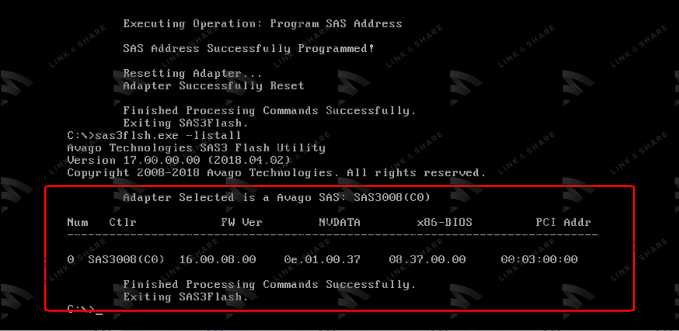 11 - Flash/Crossflash Card Raid DELL H330 Sang HBA330/12Gbps HBA IT Firmware