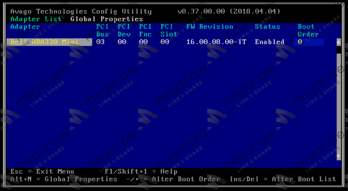 16 - Flash/Crossflash Card Raid DELL H330 Sang HBA330/12Gbps HBA IT Firmware